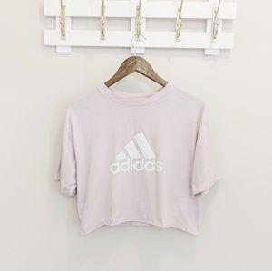 Adidas Originals Blush Pink Logo Crop Top Medium